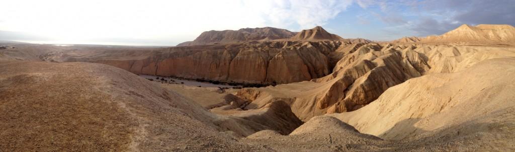 Wanderung durch die Negevwüste mit Blick aufs Tote Meer.
