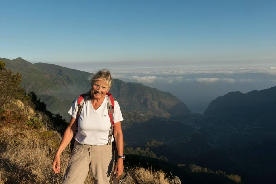Durch ihre jahrelange Erfahrung findet Christa oft die Schönwetterplätze der Insel Madeira...