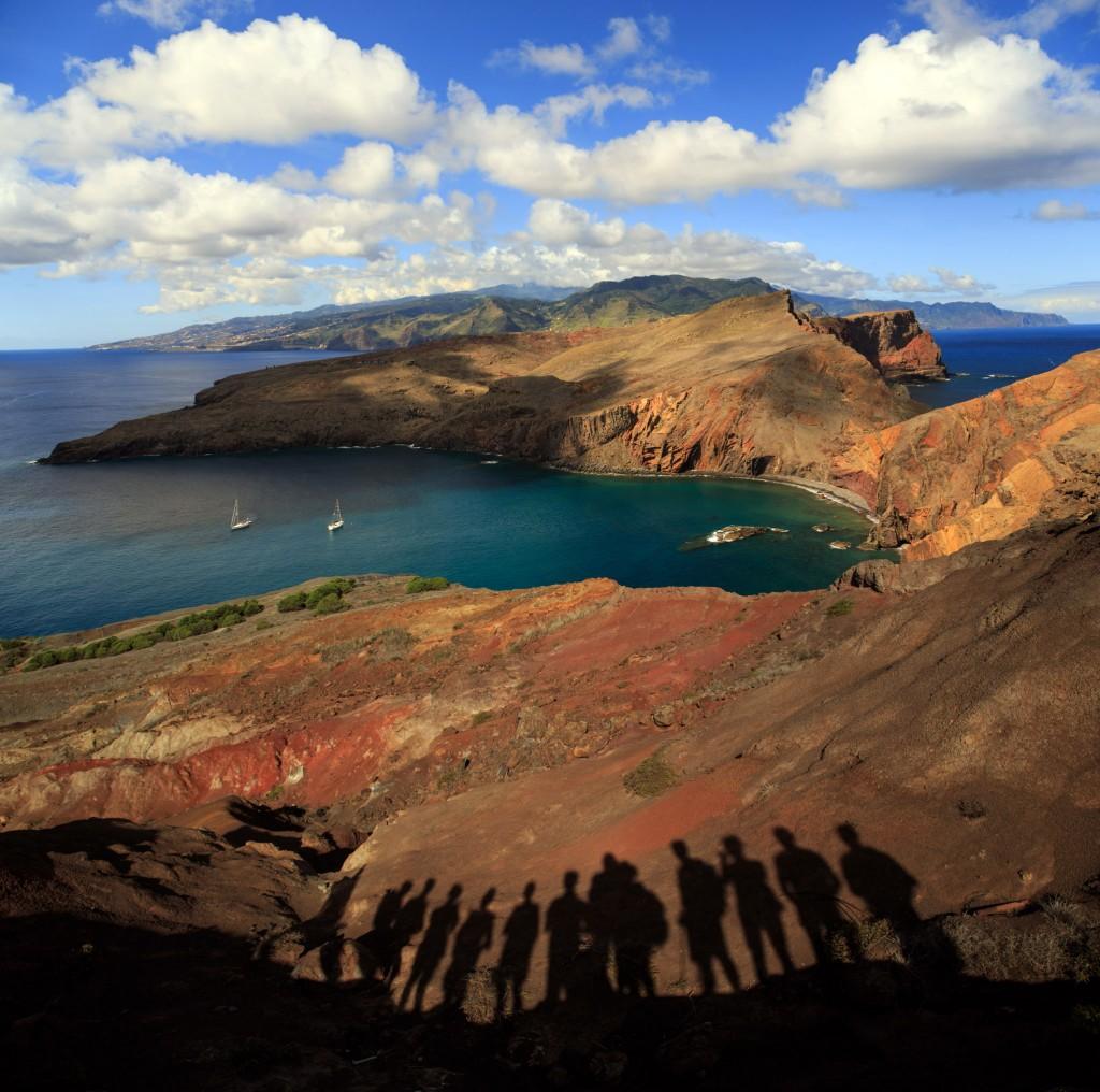 Unsere Wandergruppe auf Sao Lorenco, der Westspitze von Madeira.