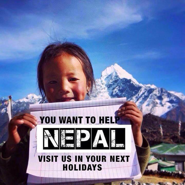 Help Nepal = Visit Nepal!