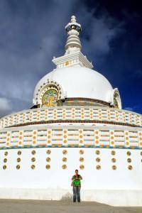 Ich habe meine Lieblingsstupa gefunden - die Shanti Stupa in Leh!