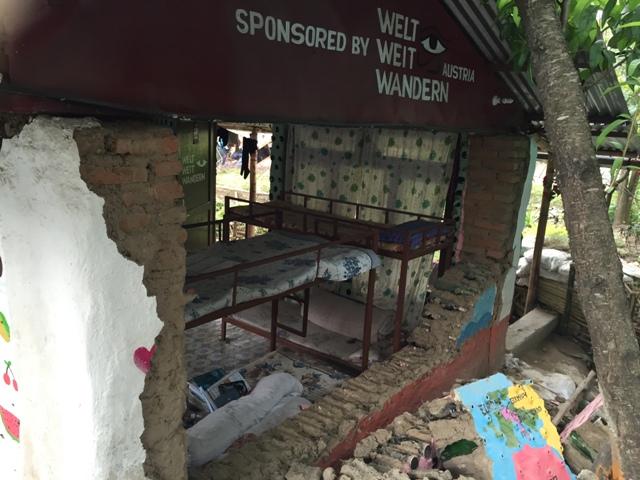 Das von Weltweitwandern mitaufgebaute Kinderheim wurde vom Erdbeben völlig zerstört.