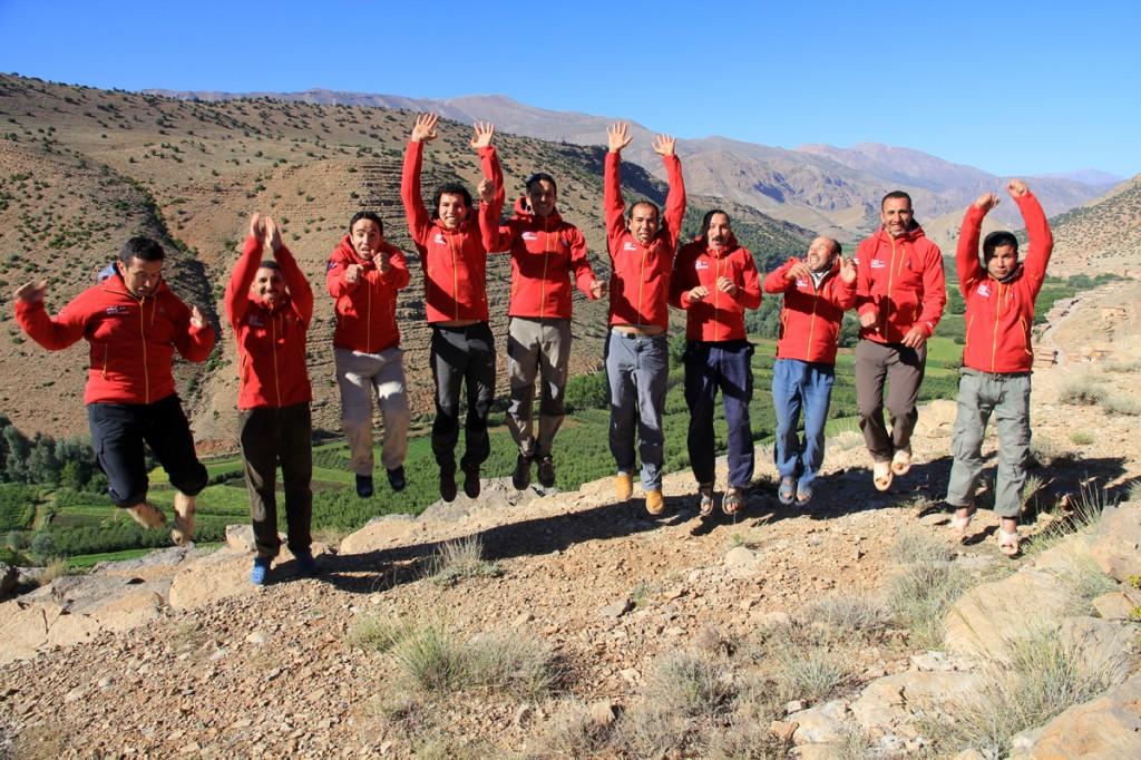 Flying Weltweitwandern Marokko - guides... Ibrahim, Ibrahim (Koch), Zakaria, Omar, Abdula, Lahoucine, Benlahsen, Mohamed (Koch), Ibrahim (Koch), Abdelmalek