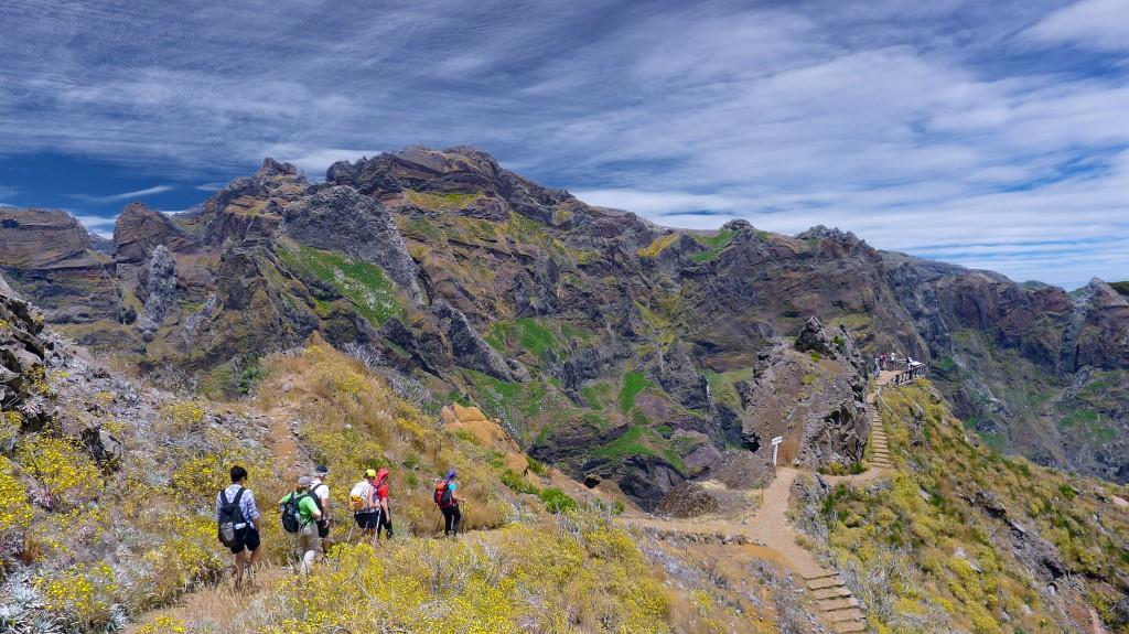 Unterwegs zum Pico Ruivo (1862m), dem höchsten Gipfel von Madeira