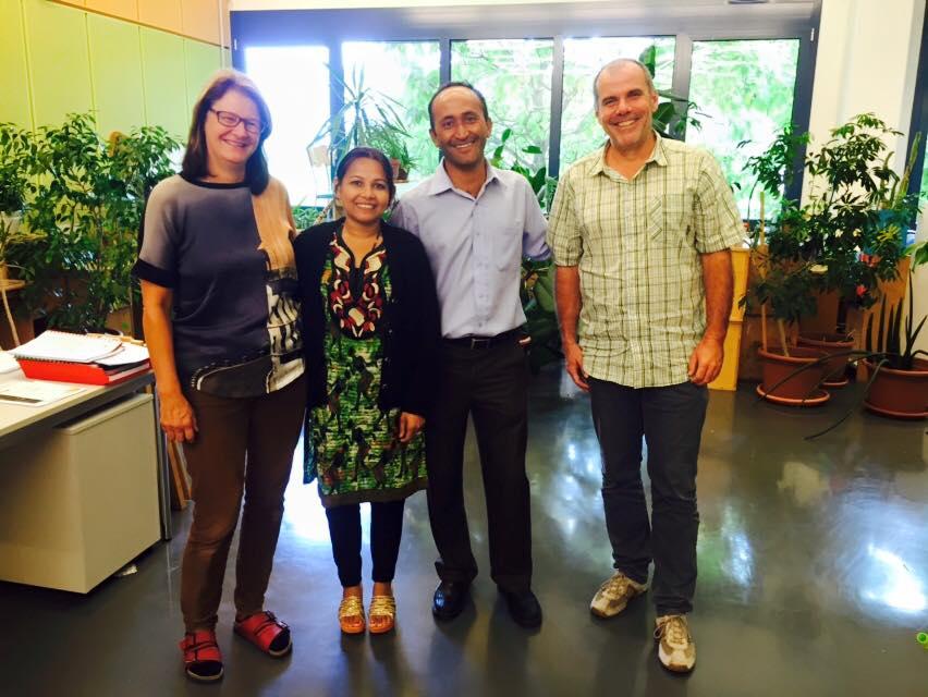 Sudama war inzwischen  - nach dem Besuch bei uns in Österreich - auch in Buchs, in der Schweiz, um die Scuola Vivante als mögliche Partner und Ideengeber für die neue Schule zu besuchen.
