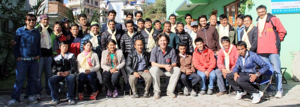 The Weltweitwandern - Team in Nepal