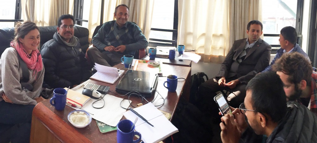 Team is discussing the project / Kathmandu, Dec. 22nd 2015