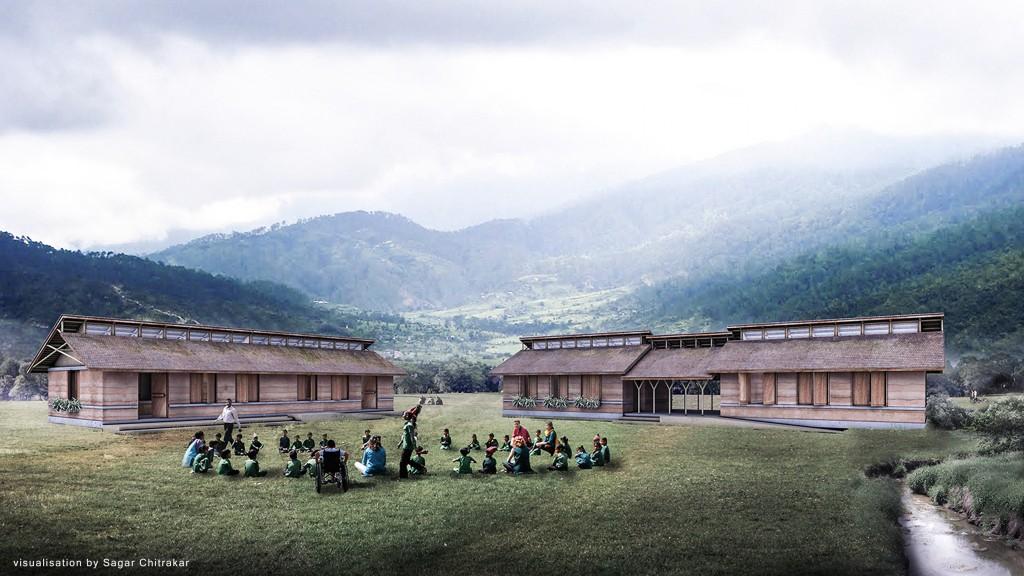 """""""Unsere Gebäude werden aus nachhaltigen Materialien wie Lehm und Bambus erdbebenressistent gebaut und sollen Vorbildwirkung für Schulbauten in ganz Nepal haben!"""""""