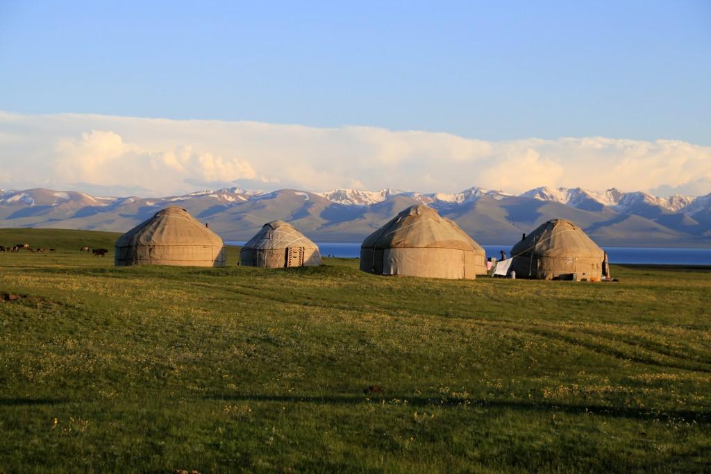 """Kirgisistan ist ein """"hübsches, gastfreundliches kleines Land"""". Die Natur kann man stellenweise durchaus mit """"lieblich"""" betiteln. Grüne Wiesen, warme Seen zum Baden, klare Gebirgsbäche mit schönen Wäldern."""
